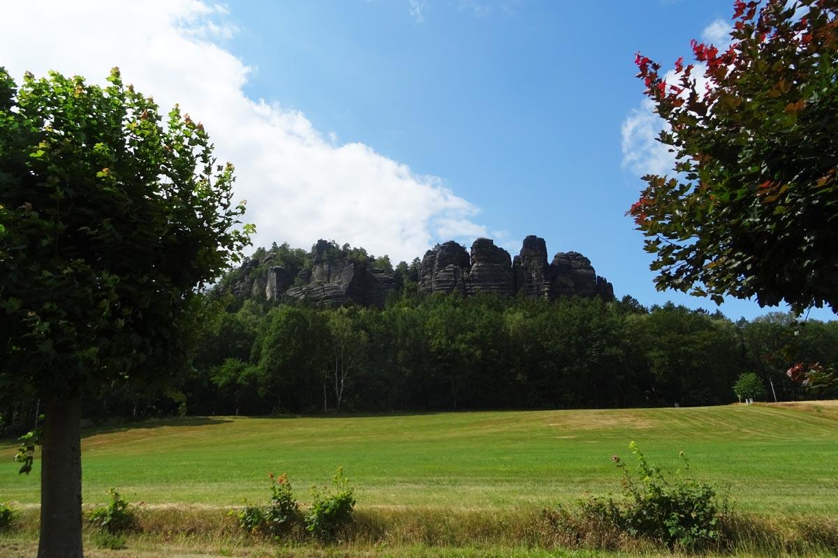 Blick vom Haus zum Pfaffenstein