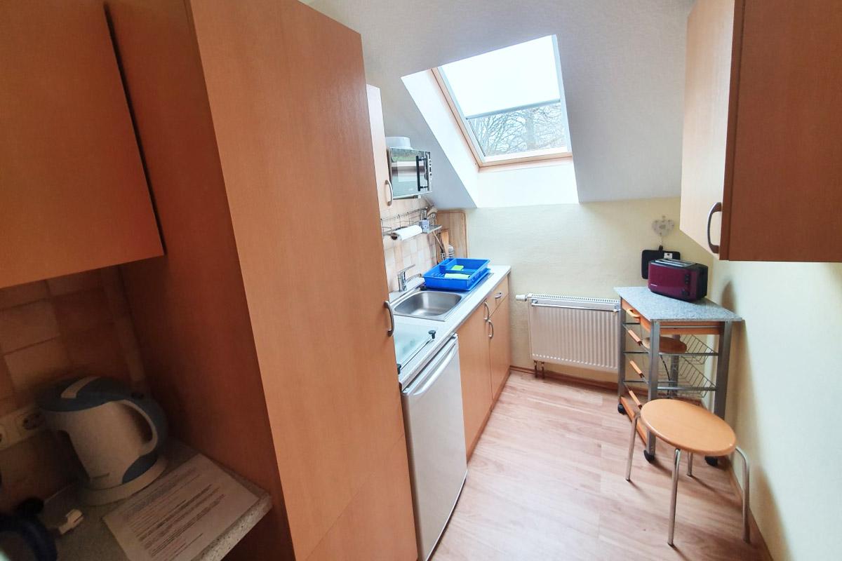 Ferienwohnung Morgensonne - Küche mit Küchenzeile